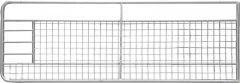 Weidepoort met gaas 4,00 m, gegalvaniseerd, incl. montageonderdelen
