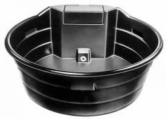 Ronde waterbak zwart met vlotter, 682 liter