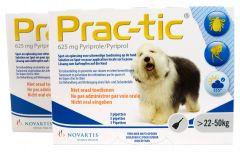 Prac-Tic 625 mg Teek&Vlo (22-50 kg) 3 pipet