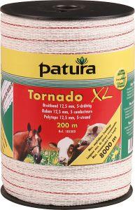 Tornado XL lint 12,5mm wit/rood 400 meter rol