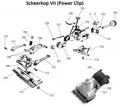 Liscop scheerkop VII/107