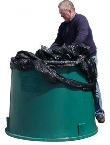 Wikkelfolie afvalcontainer