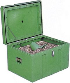 Graankoffer / mobiele voerkist 250 liter