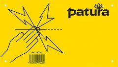 WaarschuwingsbordPas op elektrische afrastering Kunststof, 5 talig