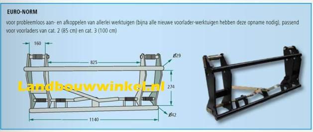 balenprikker luxe voor frontlader met eurokoppeling. Black Bedroom Furniture Sets. Home Design Ideas